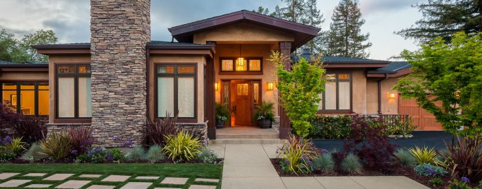 Craftsman Home With Custom Fireplace